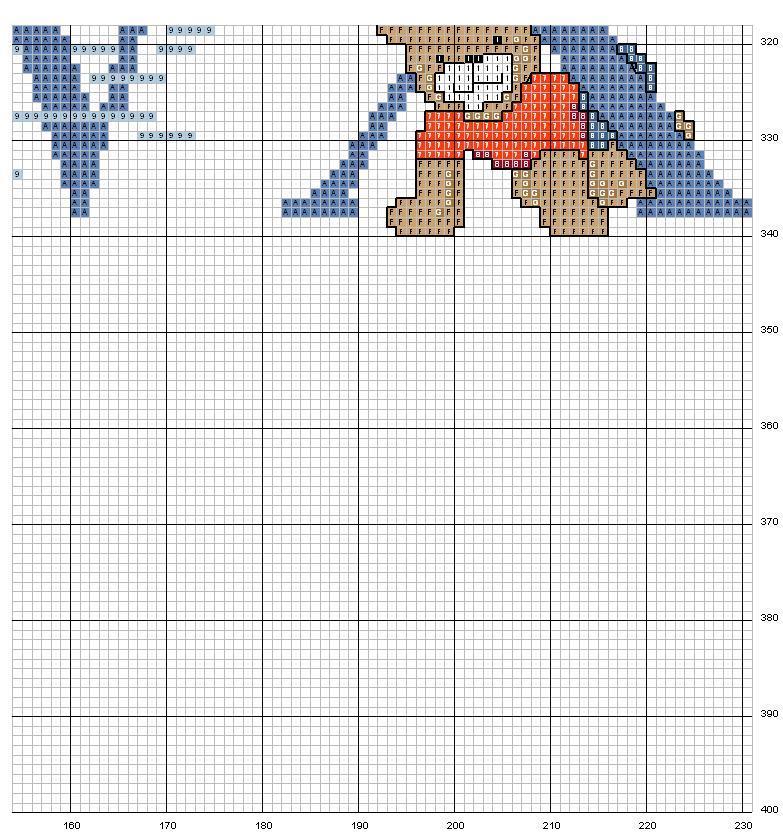 Alfabeto orsi 13 punto croce uncinetto for Alfabeto a punto croce schemi