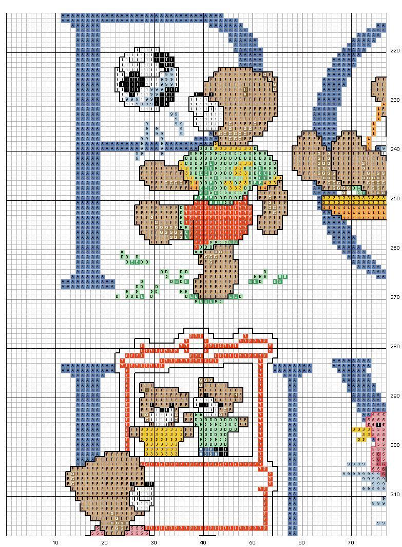 Alfabeto orsi 3 punto croce uncinetto for Alfabeto a punto croce schemi