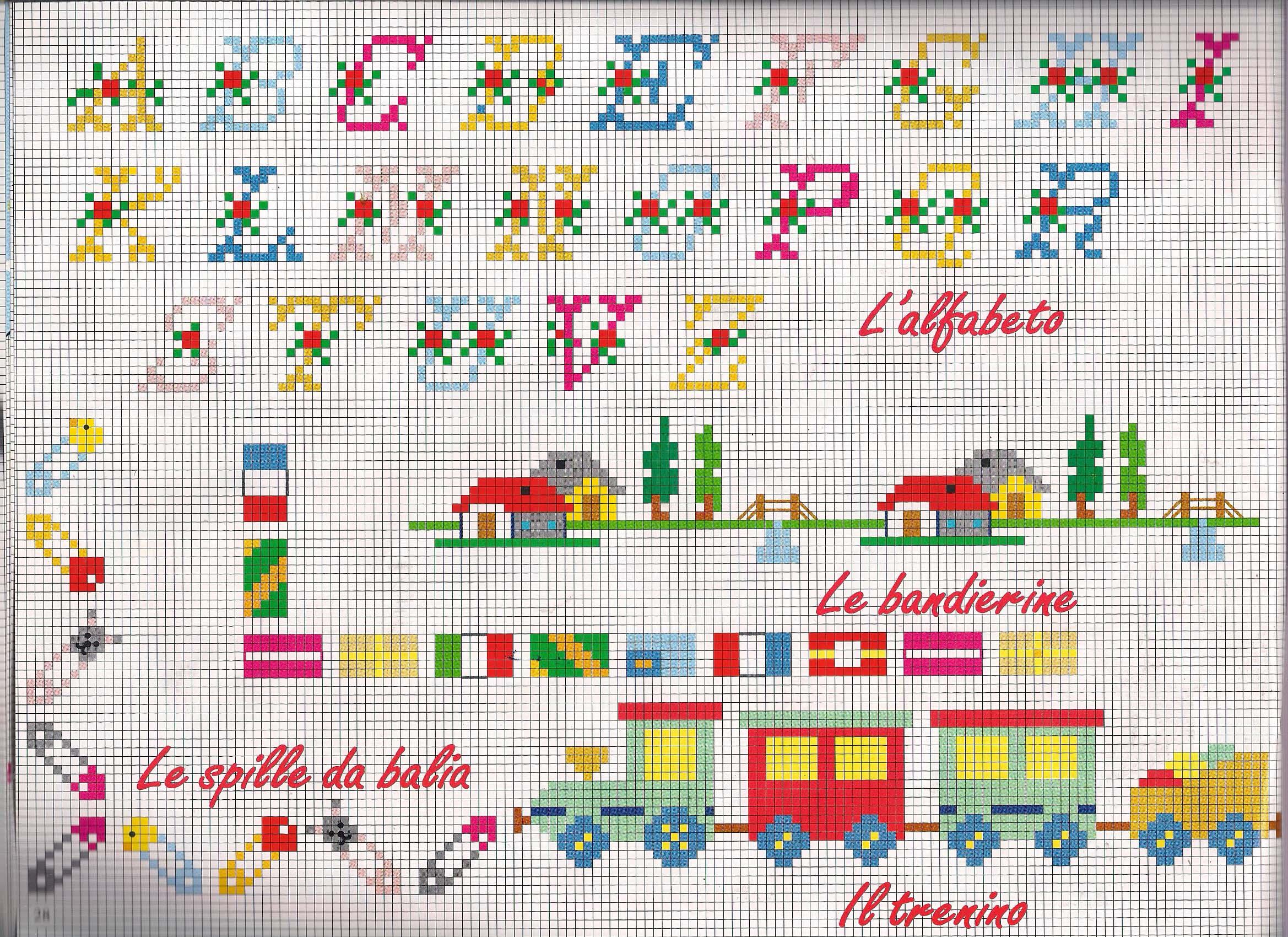 L 39 alfabeto le ballerine e le spille da balia punto a croce for Schemi punto a croce alfabeto