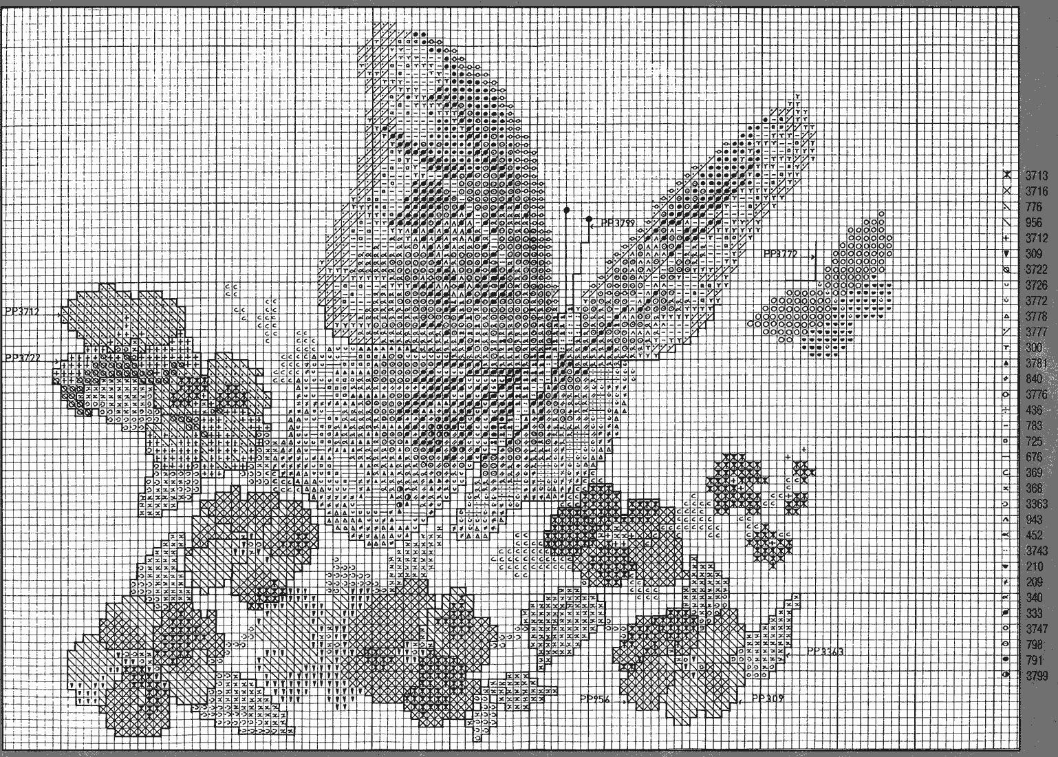 Farfalla arancione tra i fiori schema punto croce 2 for Schemi punto croce animali gratis