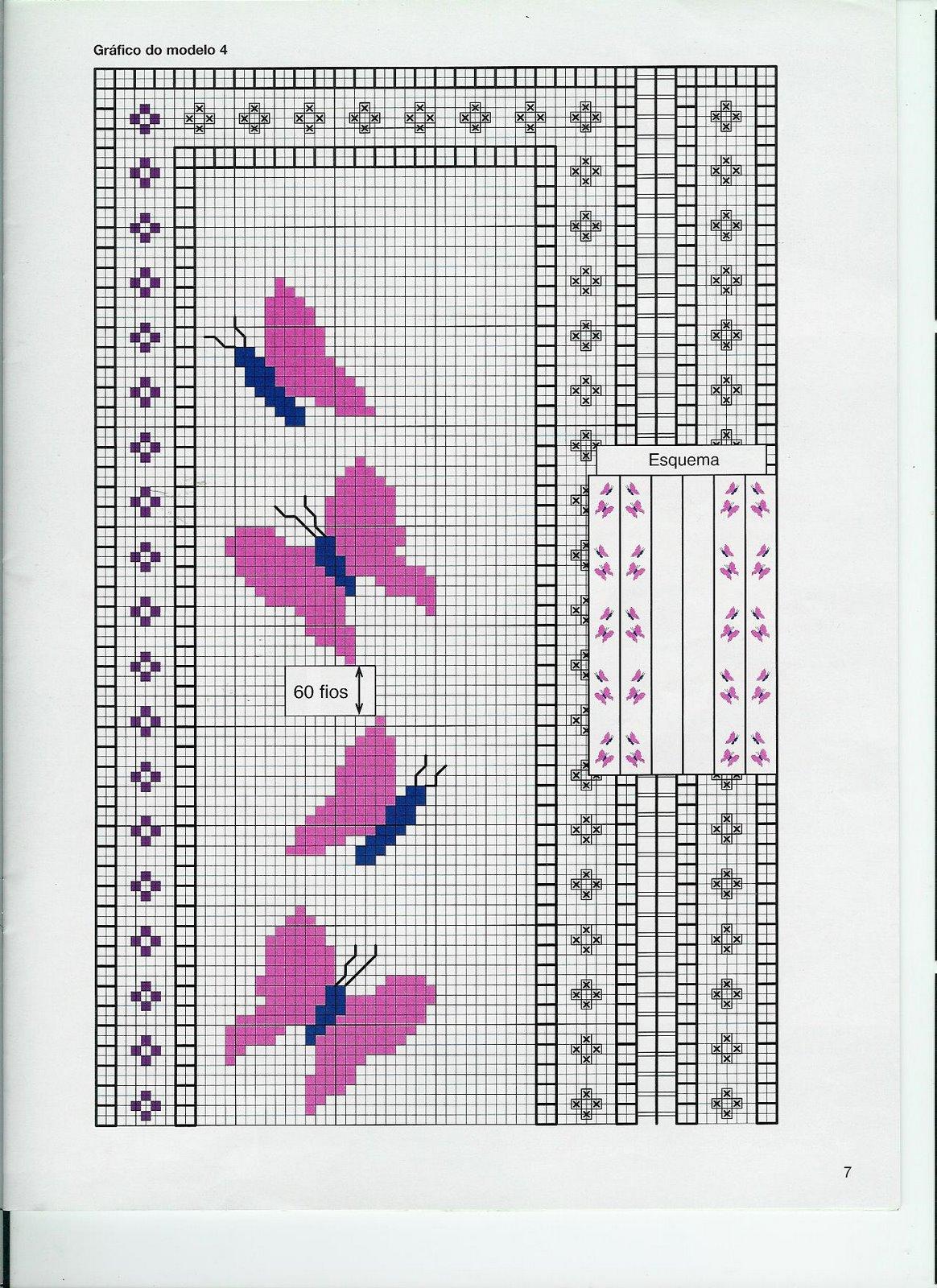 Piccoli schemi di farfalle punto croce viola 2 for Schemi punto croce animali gratis