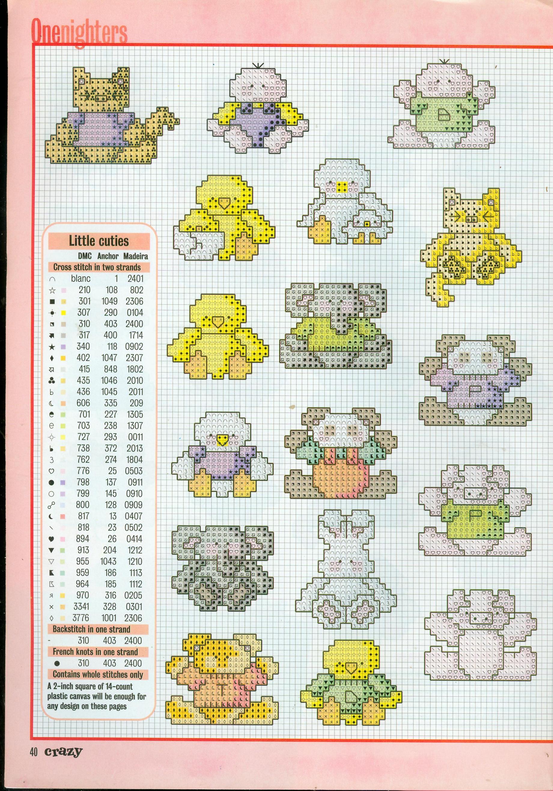 Piccoli animali schemi punto croce idee regalo 1 for Animali a punto croce per bambini