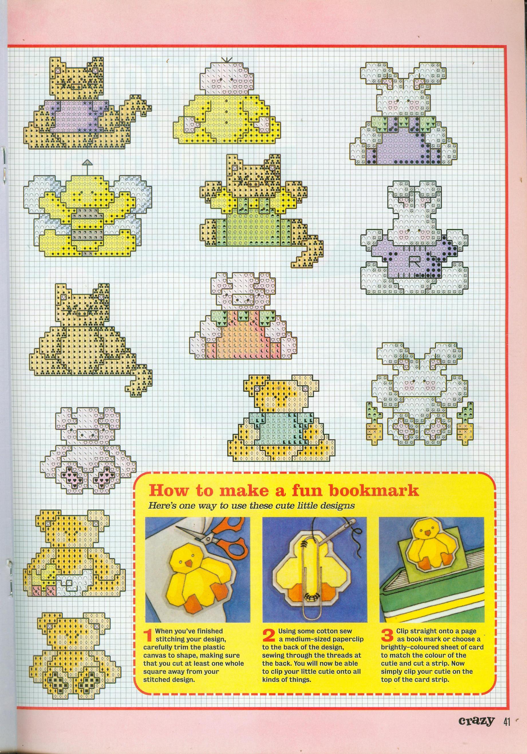 Piccoli animali schemi punto croce idee regalo 2 for Animali a punto croce per bambini