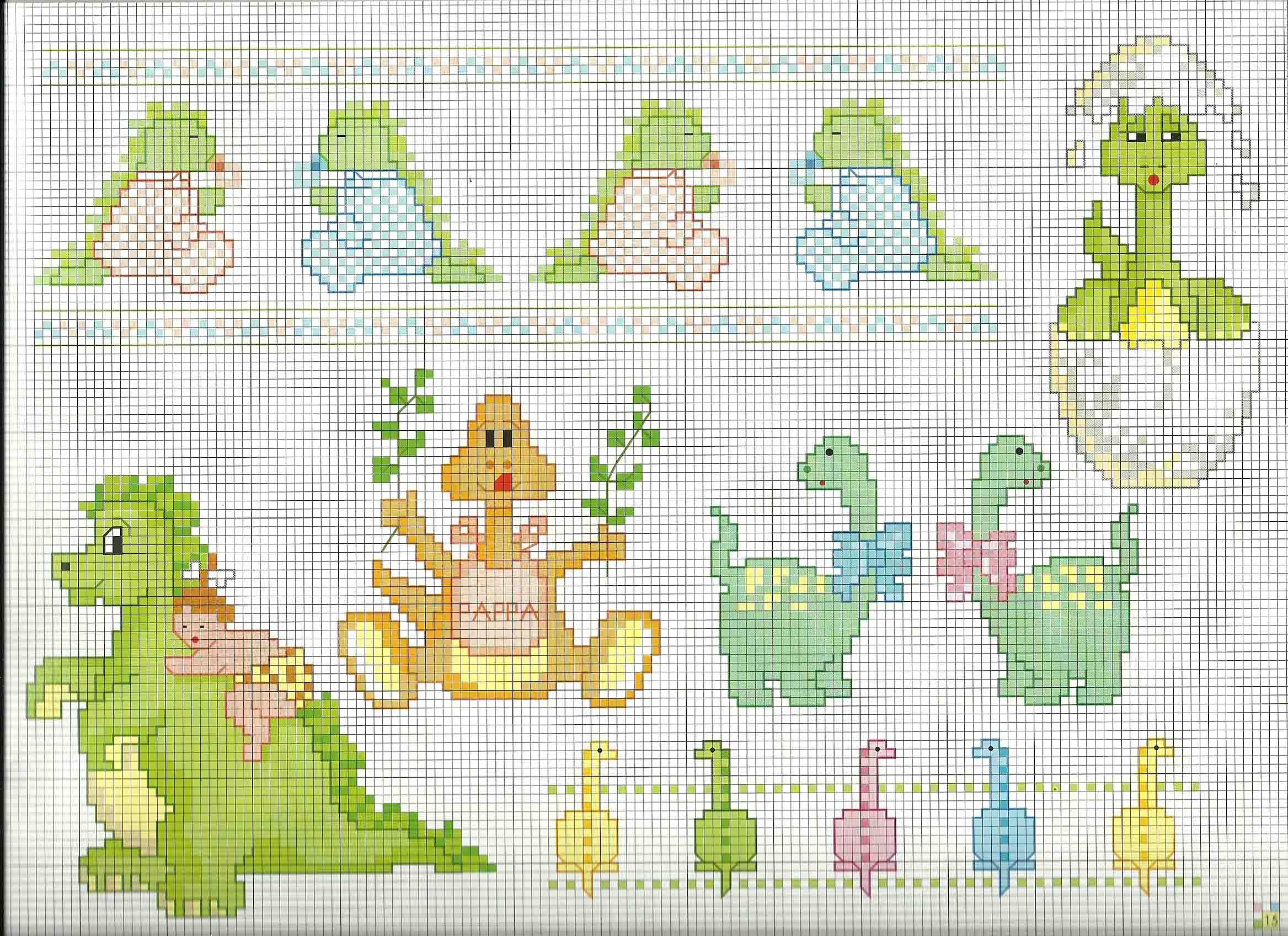 Schemi punto croce animali per bambini con piccoli for Animali a punto croce per bambini