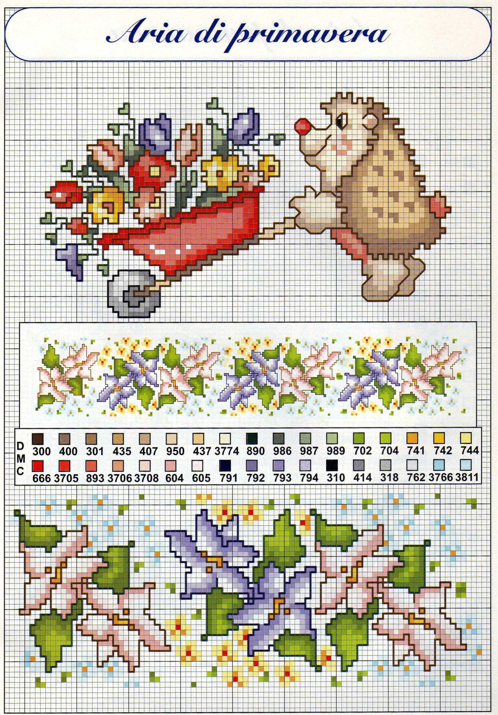 Un riccio schema punto croce animali per bambini for Schemi punto croce animali gratis