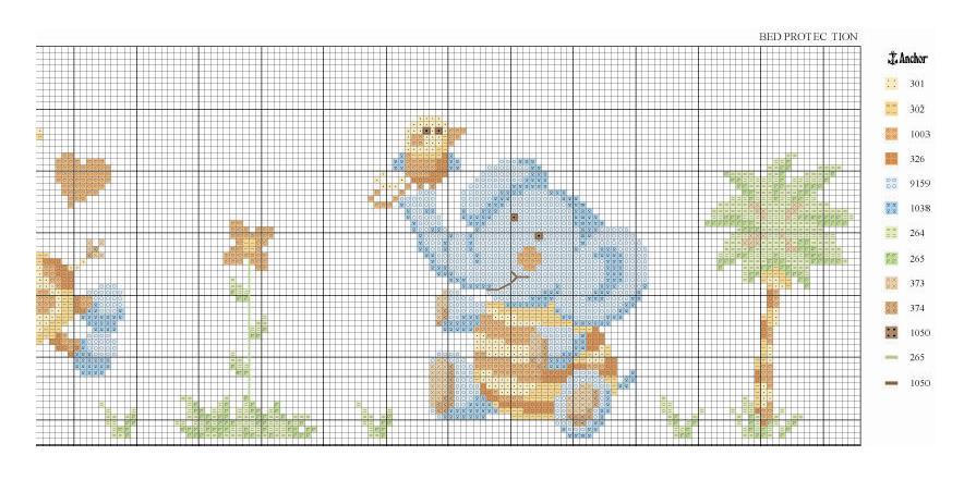 Metro crescita animali colorati 3 9 punto croce metri for Farfalle a punto croce per bambini