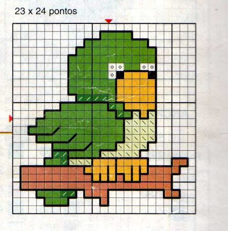 Animali bambini piccolo pappagallo punto for Punto croce bambini gratis