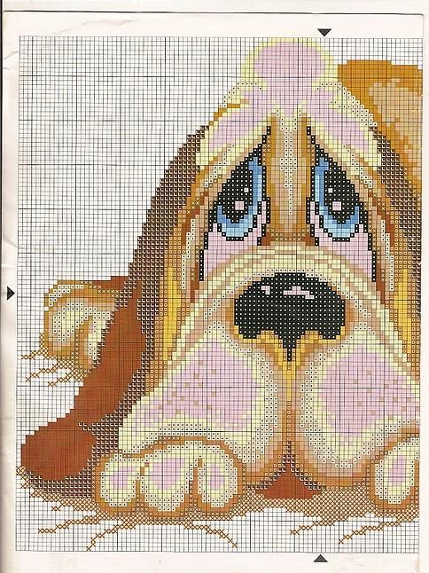 Animali cane bassotto1 punto croce for Animali a punto croce per bambini