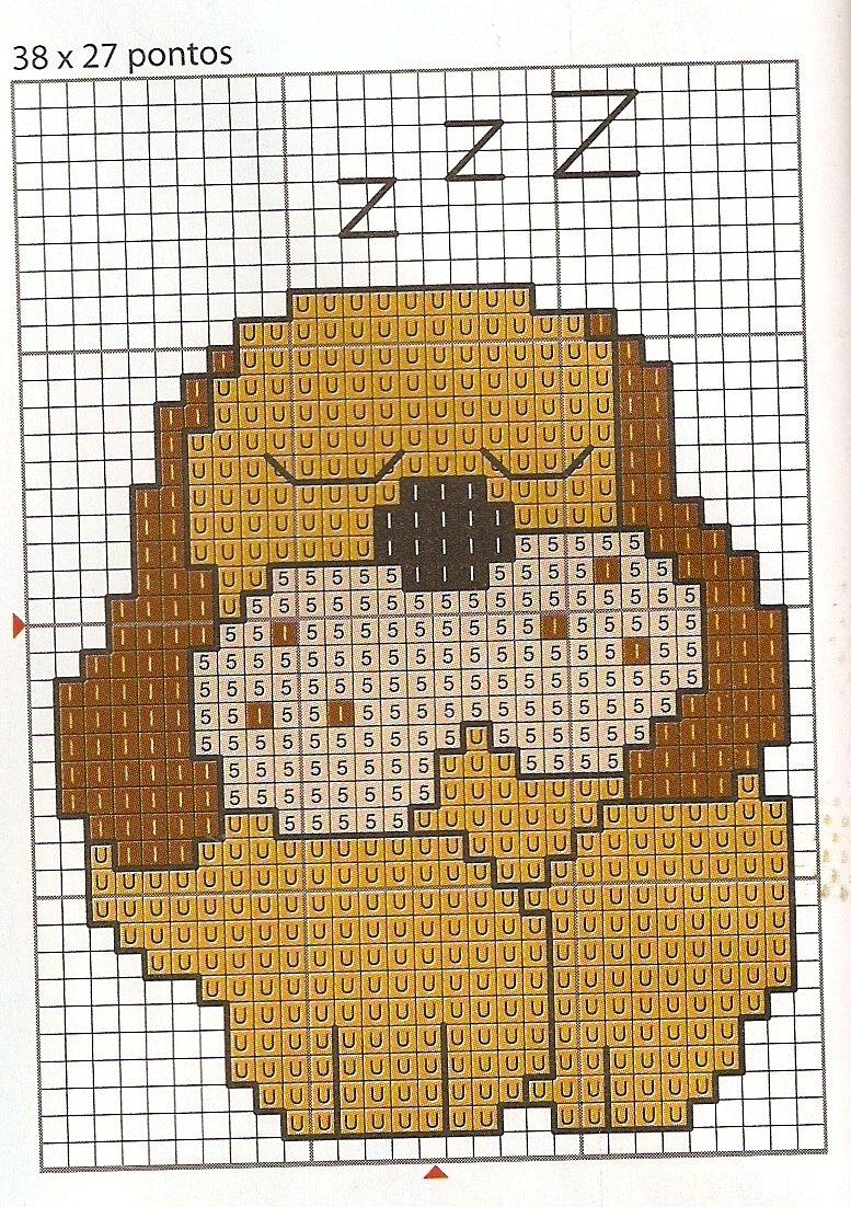 Animali cane che dorme punto croce for Schemi punto croce animali gratis