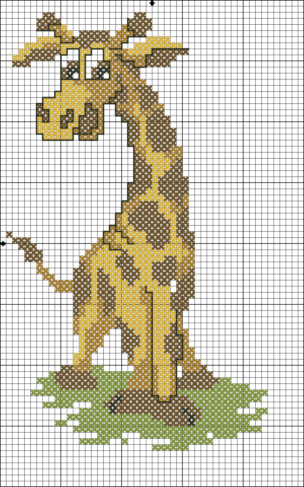 Animali giraffa1 punto croce uncinetto for Giraffa punto croce