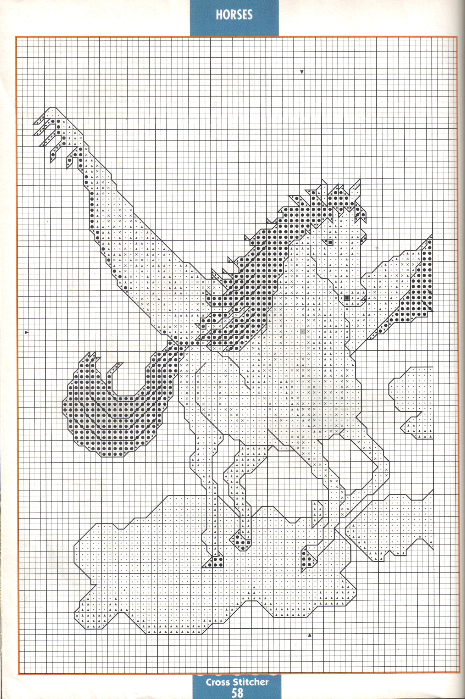 Schema Di Un Cavallo Alato 1 Magiedifilo It Punto Croce