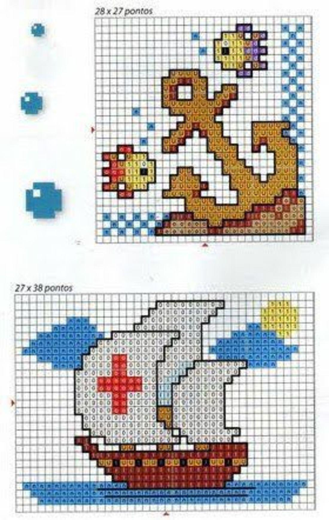 Disegni punto croce etsy disegni bavaglini disegni a for Disegni punto croce per bavaglini