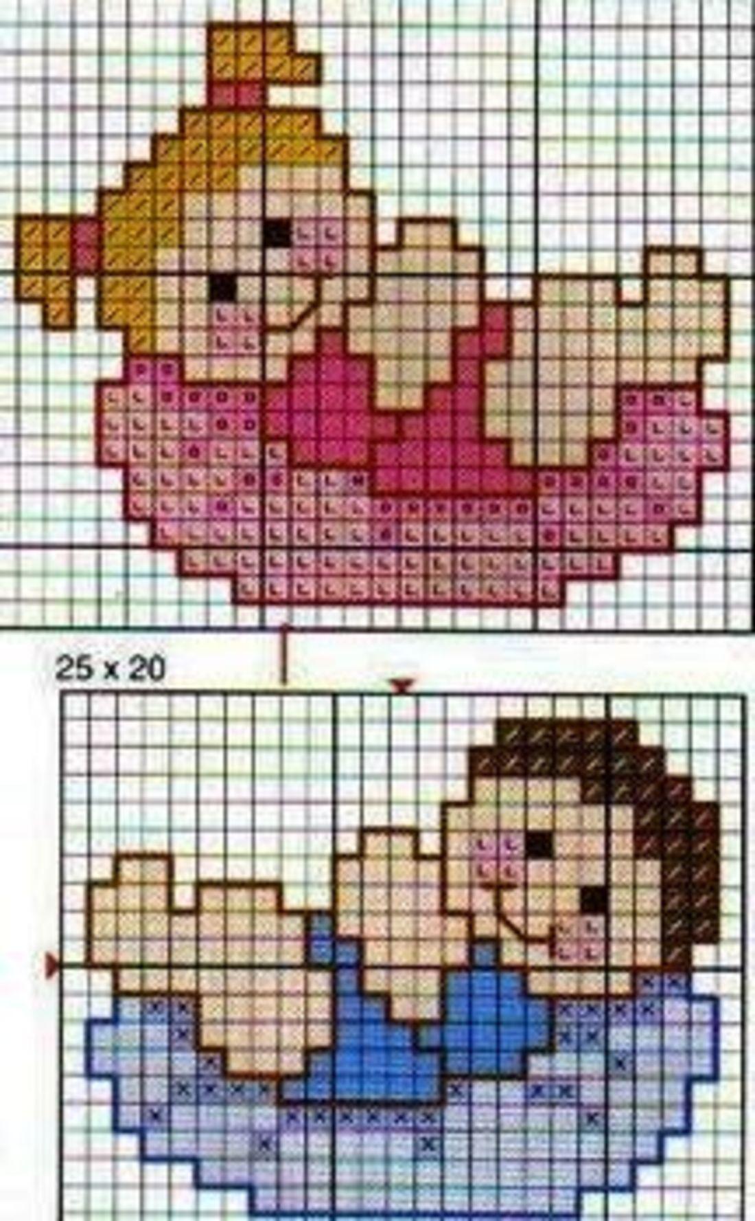 Schemi punto croce animali per bambini 4312 magiedifilo for Schemi punto croce animali per bambini