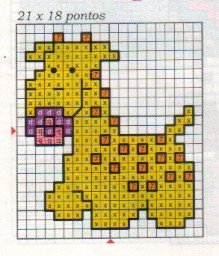 Giraffa con ciuccio schema punto croce bavaglino for Giraffa punto croce
