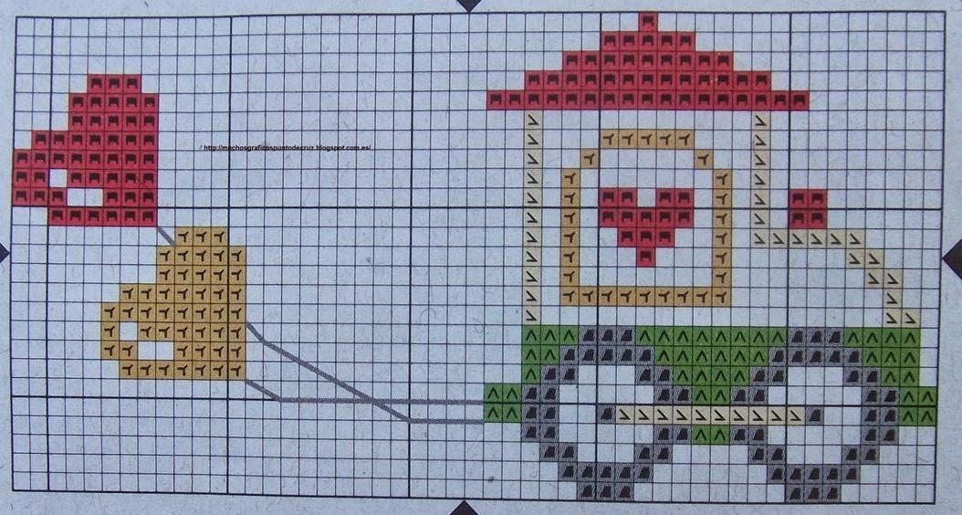 Trenino palloncini schema punto croce bavaglino for Schemi punto croce per bavaglini