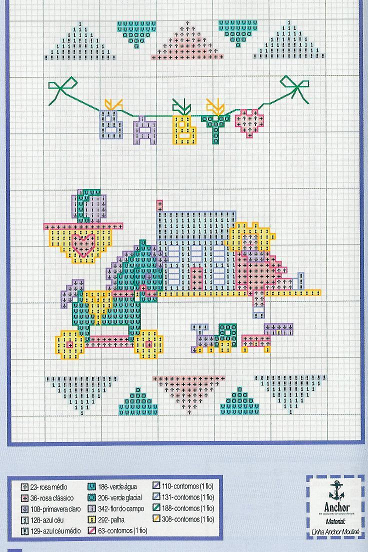 Giocattoli per bimba bambina schemi punto croce for Punto croce bimbi schemi