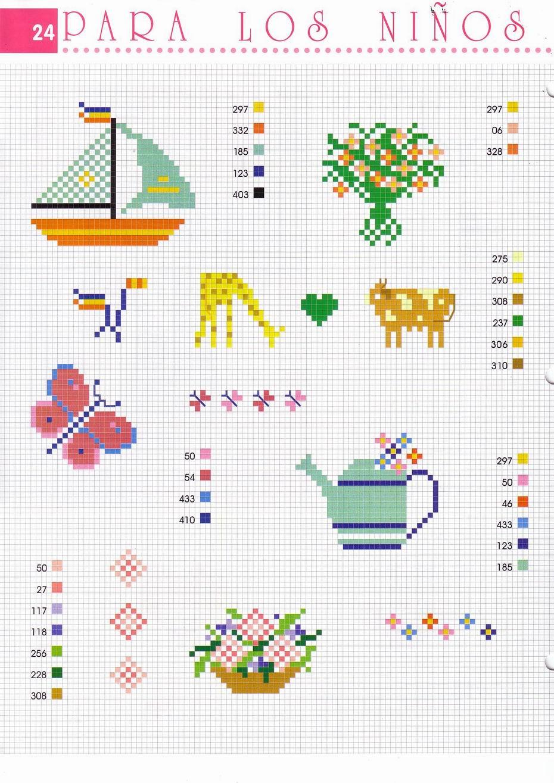 Animali farfalle fiori e piccoli schemini punto croce 2 for Schemi punto croce fiori e farfalle