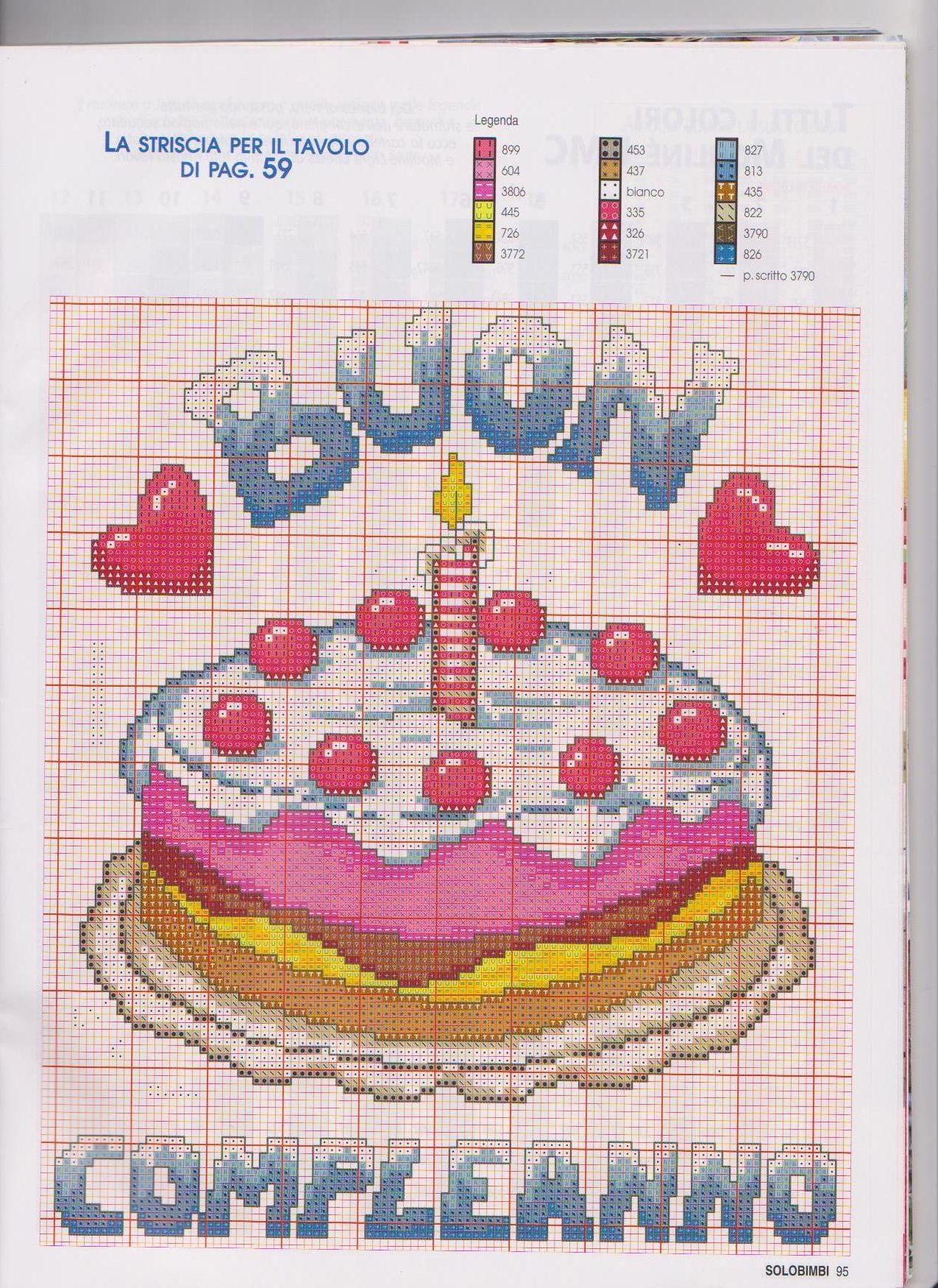 Festa di compleanno 6 punto croce for Decorazioni punto croce bambini