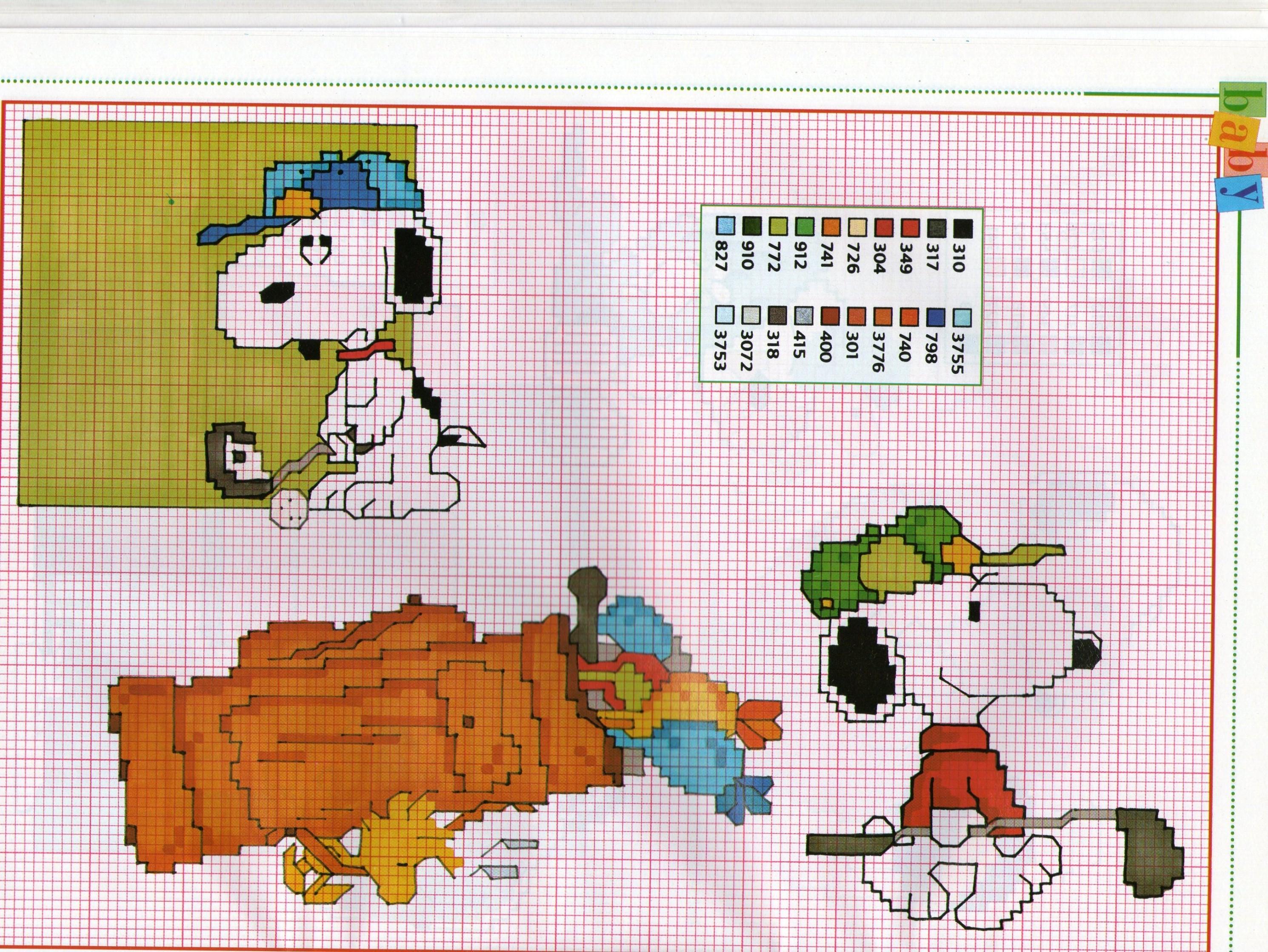 Snoopy E Il Golf Schemi Gratis Punto Croce Magiedifiloit Punto