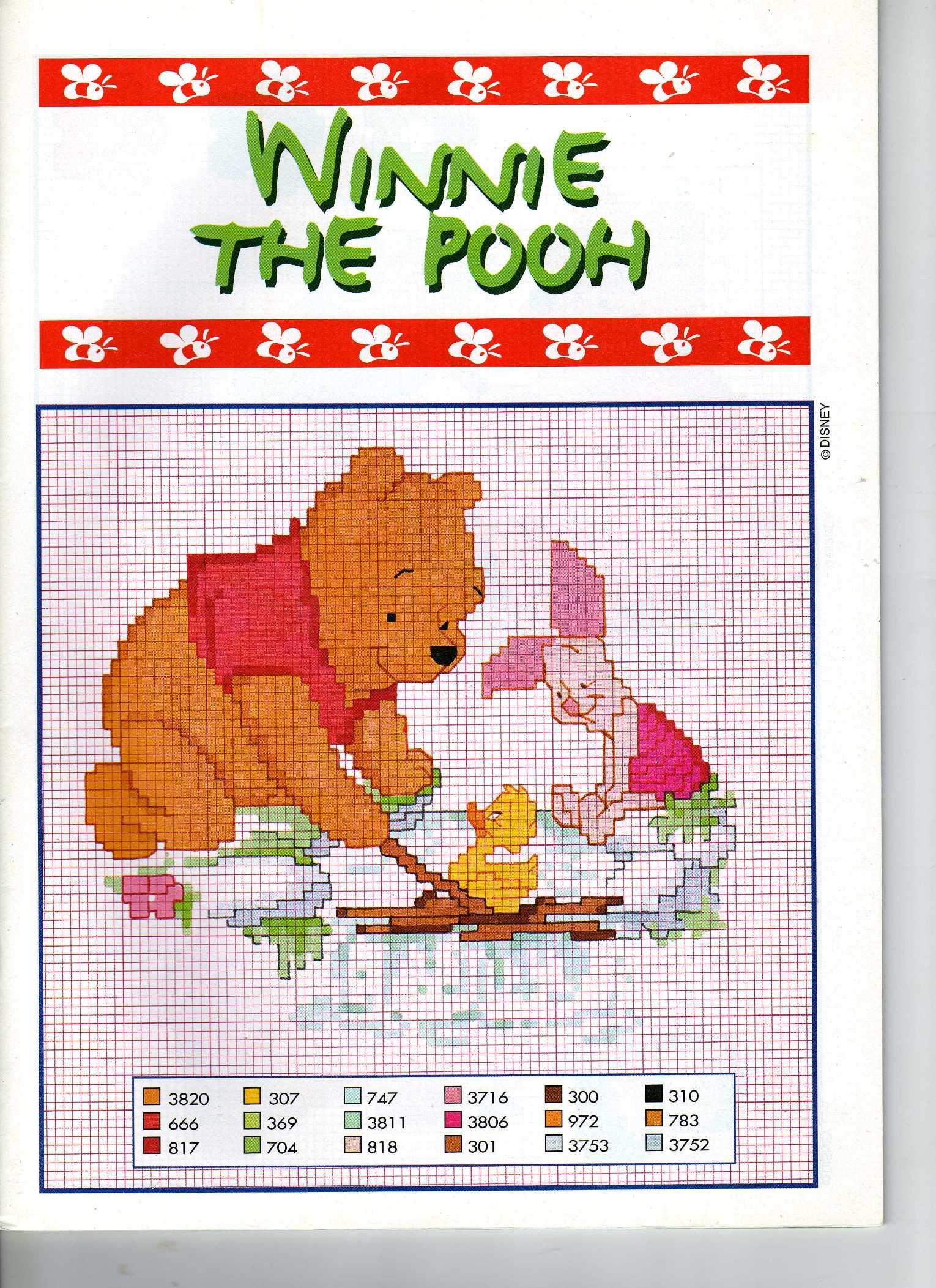 Pimpi winnie the pooh paperella punto for Winnie the pooh punto croce