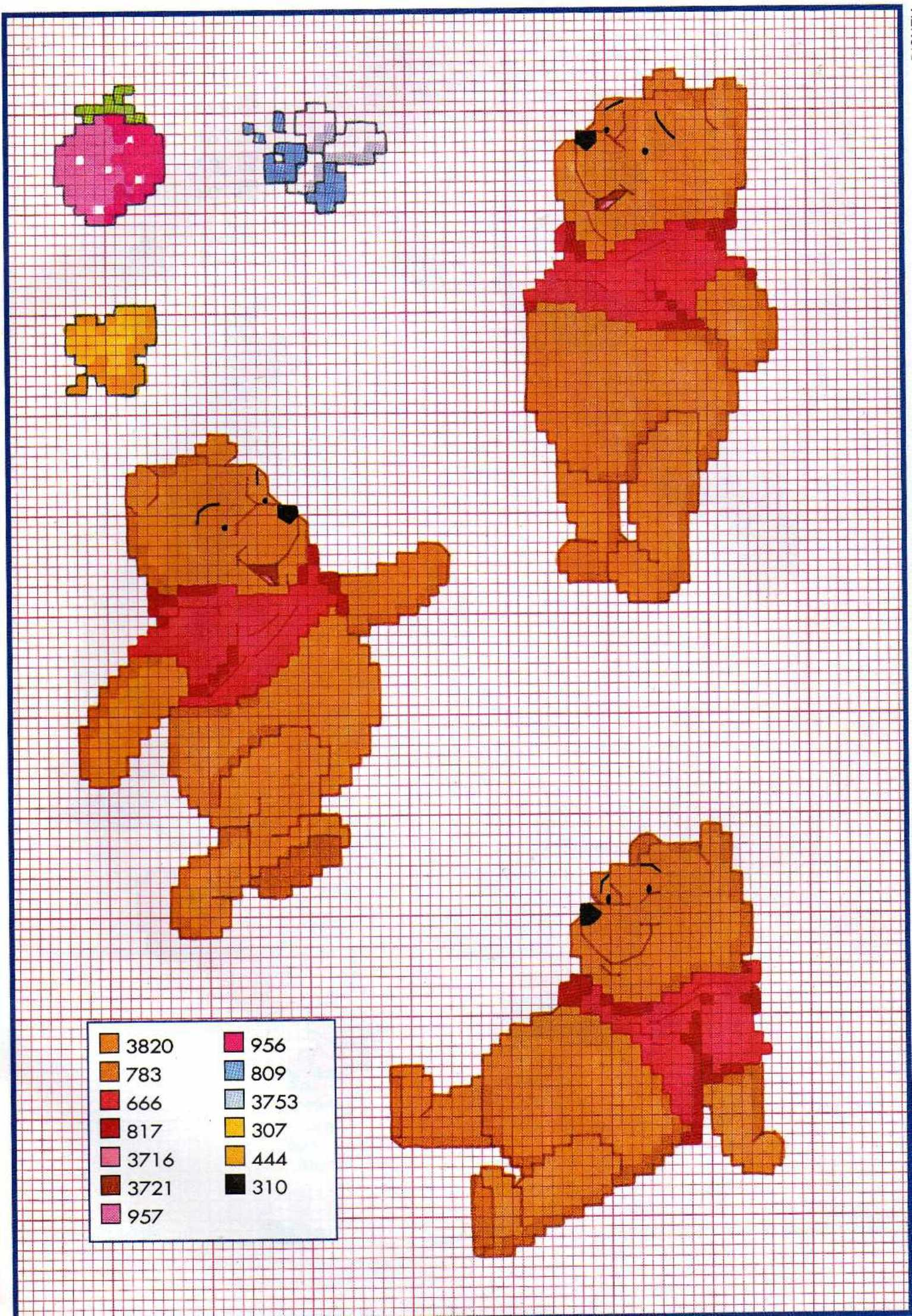 Punto croce winnie the pooh punto croce for Schemi punto croce winnie the pooh baby