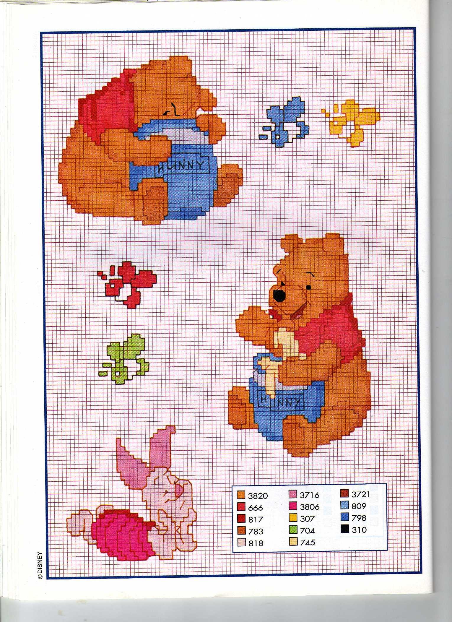 Winnie the pooh con barattolo di miele for Winnie the pooh punto croce