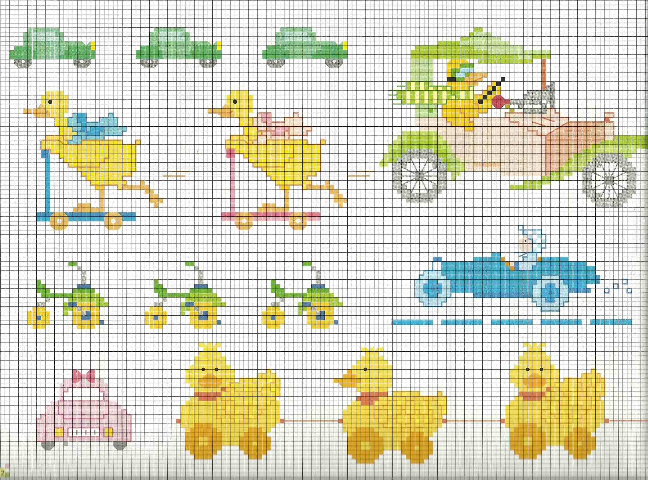 Schemi punto croce copertina beb paperelle triciclo for Immagini di punto croce