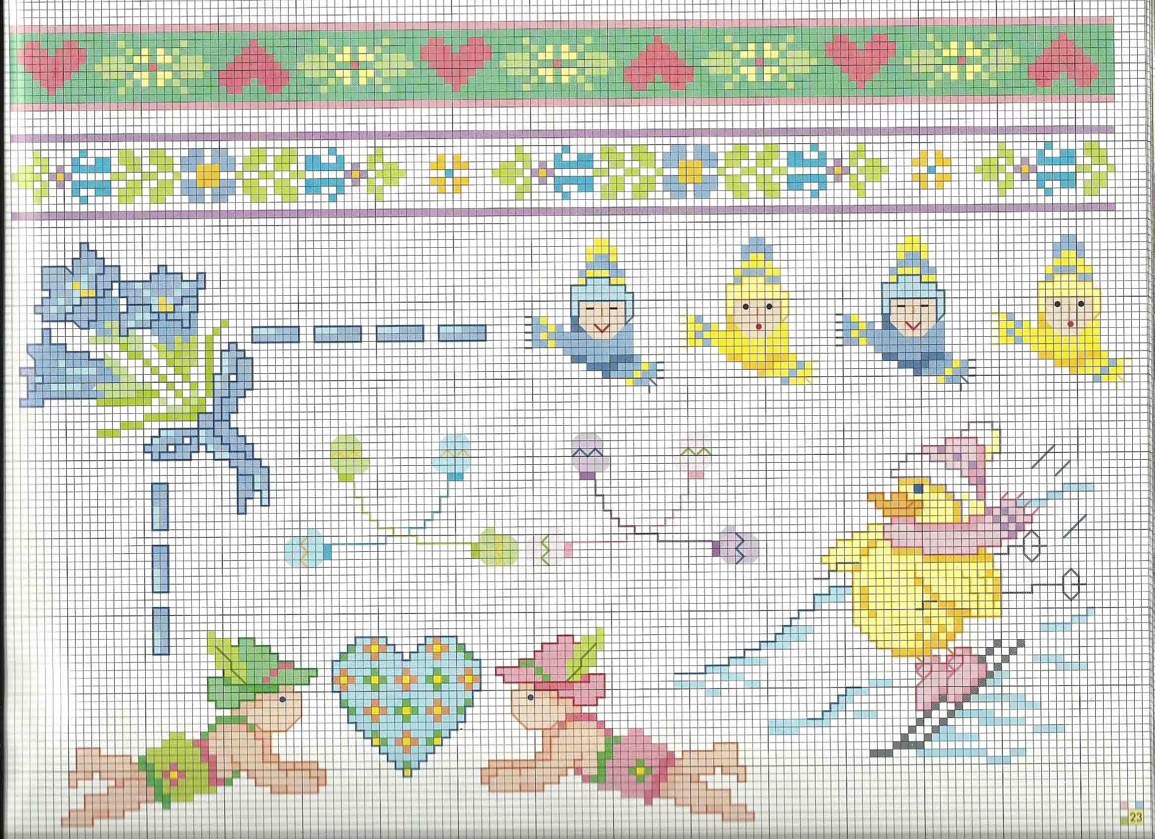 Schemi punto croce copertine lenzuolini beb sulla neve for Lenzuolini punto croce schemi