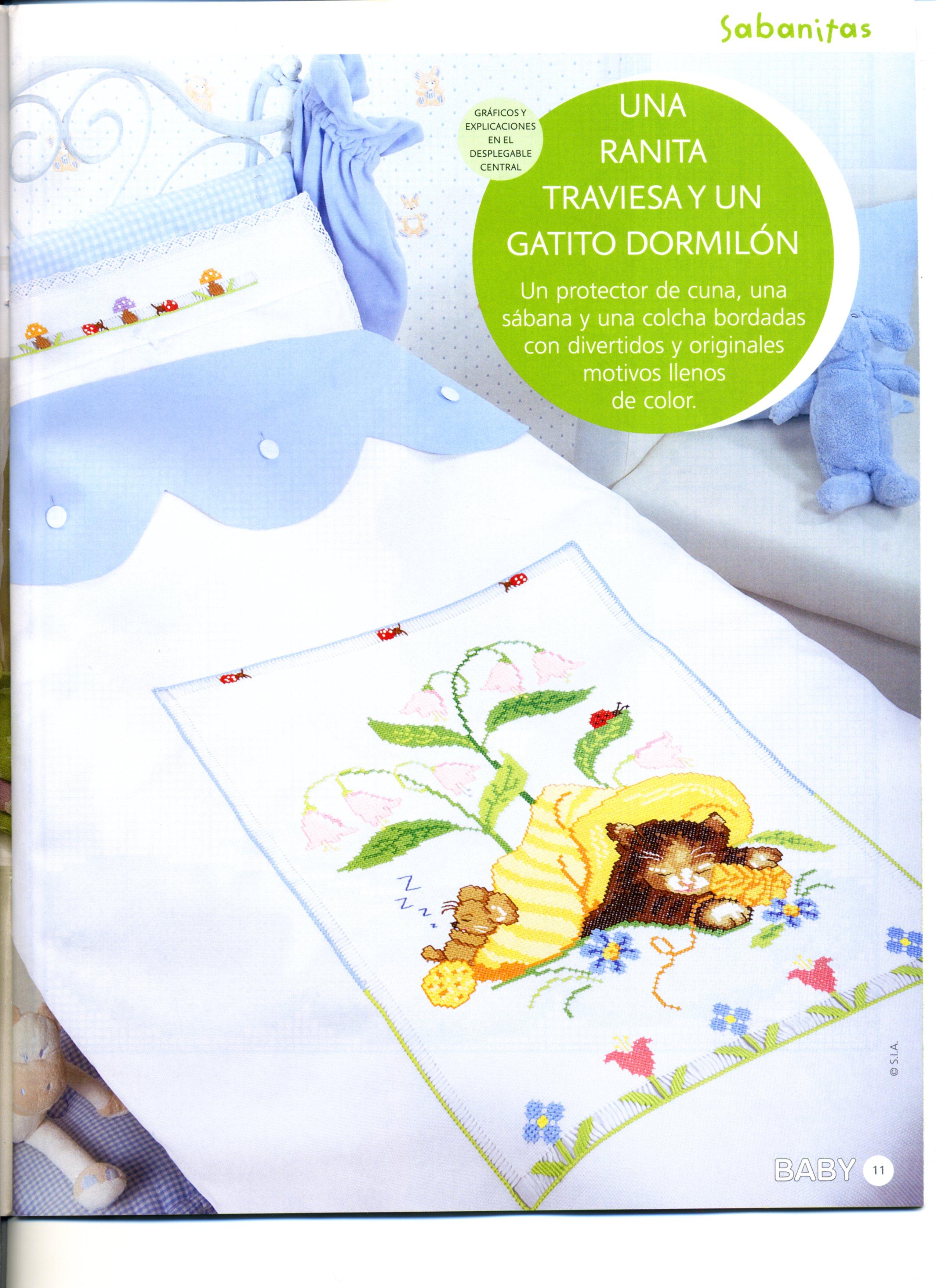 Copertina gattino 1 punto croce for Copertine punto croce bimbi schemi