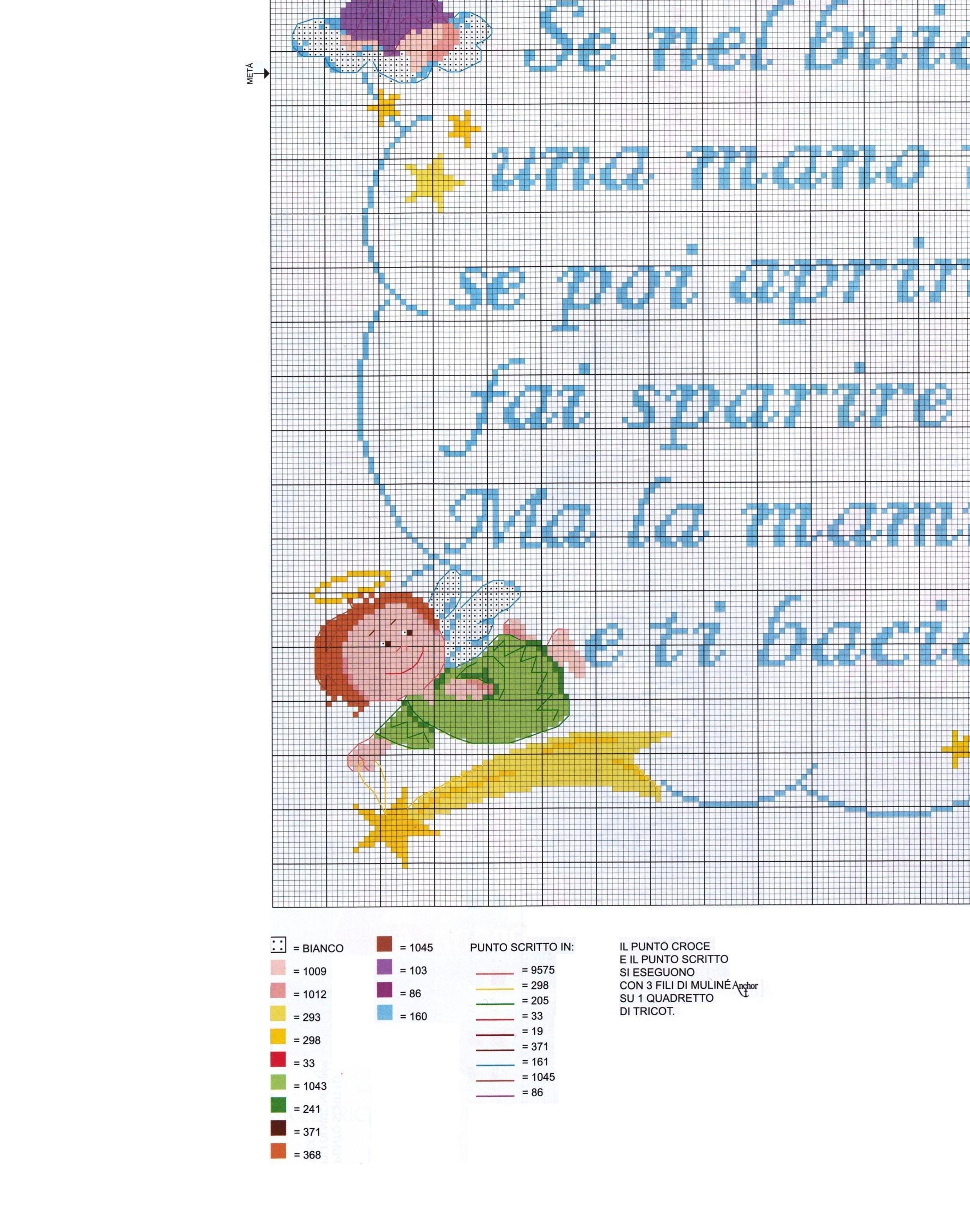 Copertina lenzuolino filastrocca angioletti 6 for Angioletti punto croce per bambini