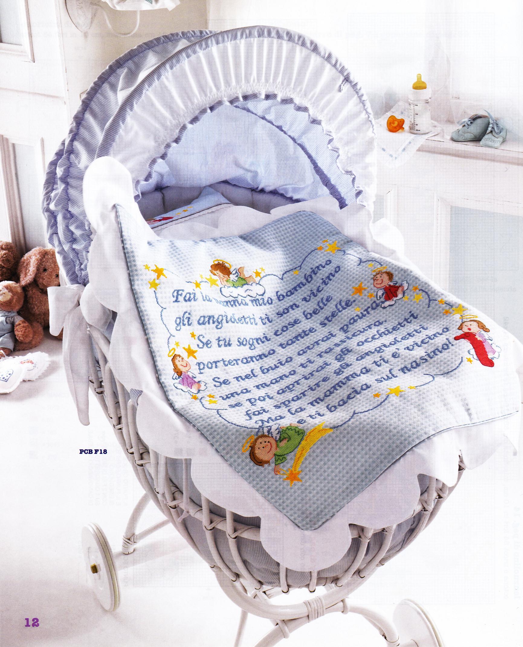 Copertina lenzuolino filastrocca angioletti 1 for Lenzuolini punto croce per bambini