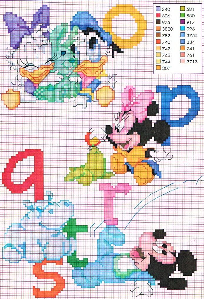 Alfabeto Baby Disney Punto Croce 3 Magiedifilo It Punto Croce