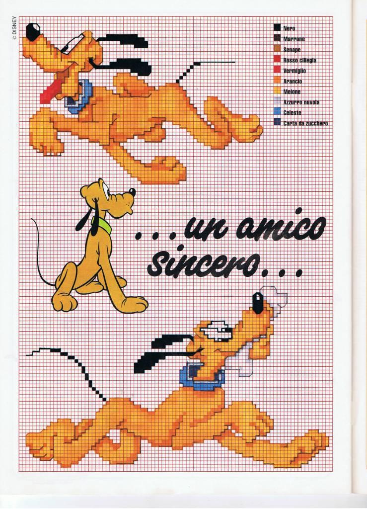 Disney pluto un amico sincero punto croce for Schemi punto croce bambini disney