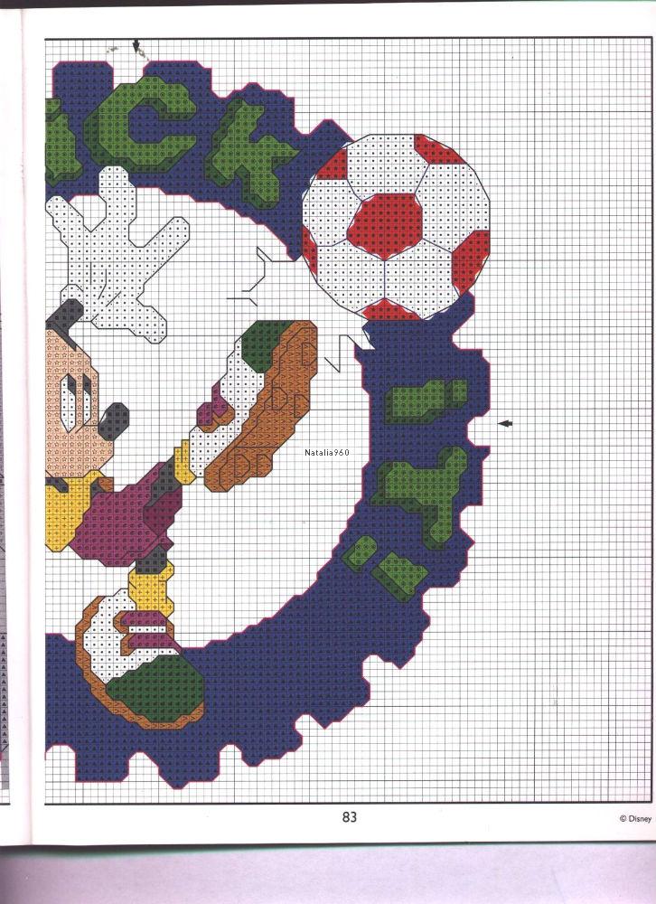 Disney sport schemi punto croce gratis 4 magiedifilo for Schemi gratis punto croce disney