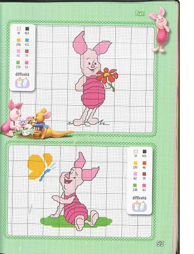 I simpatici personaggi winnie the pooh a punto croce 8 for Winnie the pooh punto croce schemi
