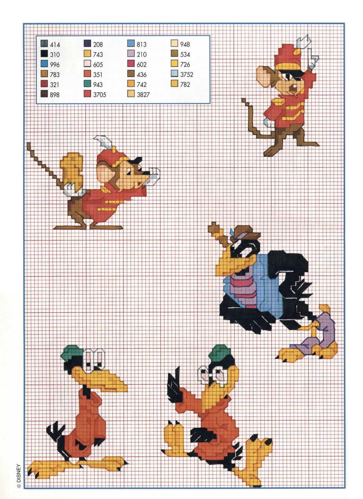 Il topo timoteo amico di dumbo punto for Schemi punto croce bambini disney
