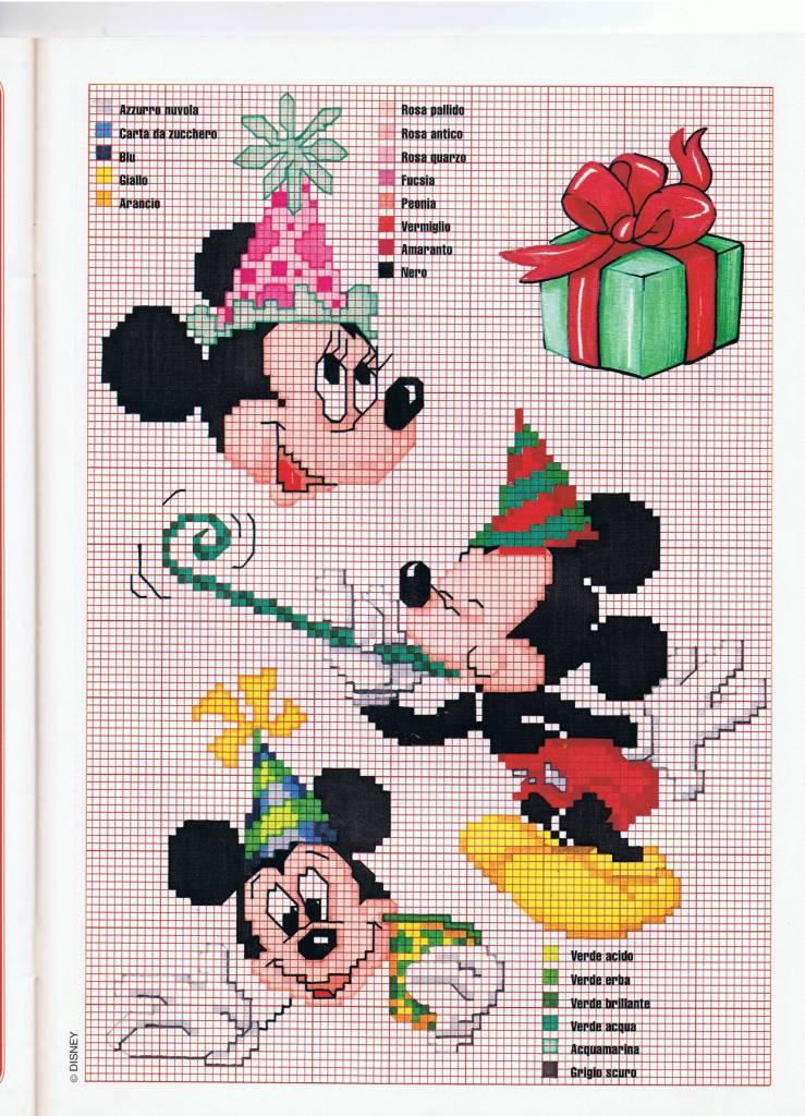 Minnie e topolino schemi punto croce per il compleanno for Schemi punto croce bambini disney