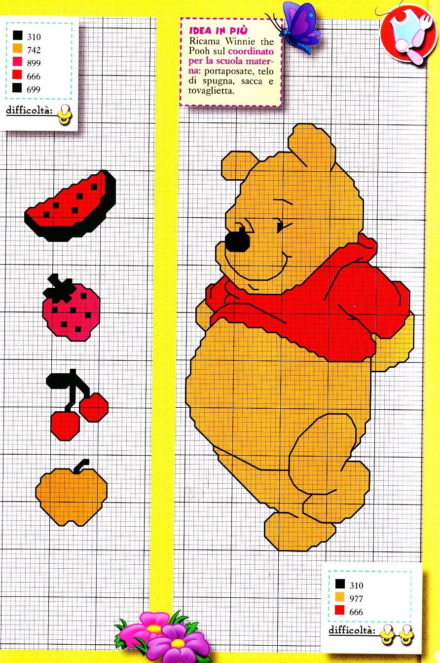 Punto croce winnie the pooh 3 punto croce for Winnie the pooh punto croce schemi