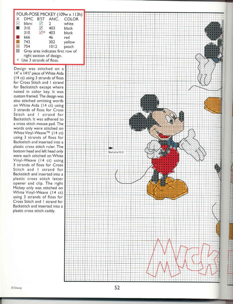 Ricami bellissimi disney 5 punto croce for Ricami disney punto croce