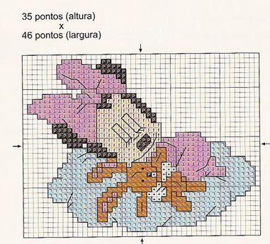 Schemi punto croce baby disney sulla nuvola 3 for Immagini disney punto croce