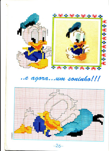 Baby Disney Paperino Dorme Magiedifilo It Punto Croce