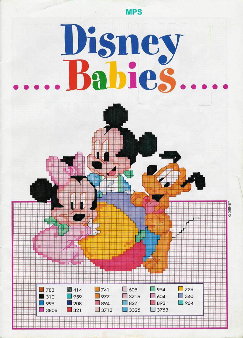 Baby topolino minnie pluto punto croce for Schemi punto croce bambini disney