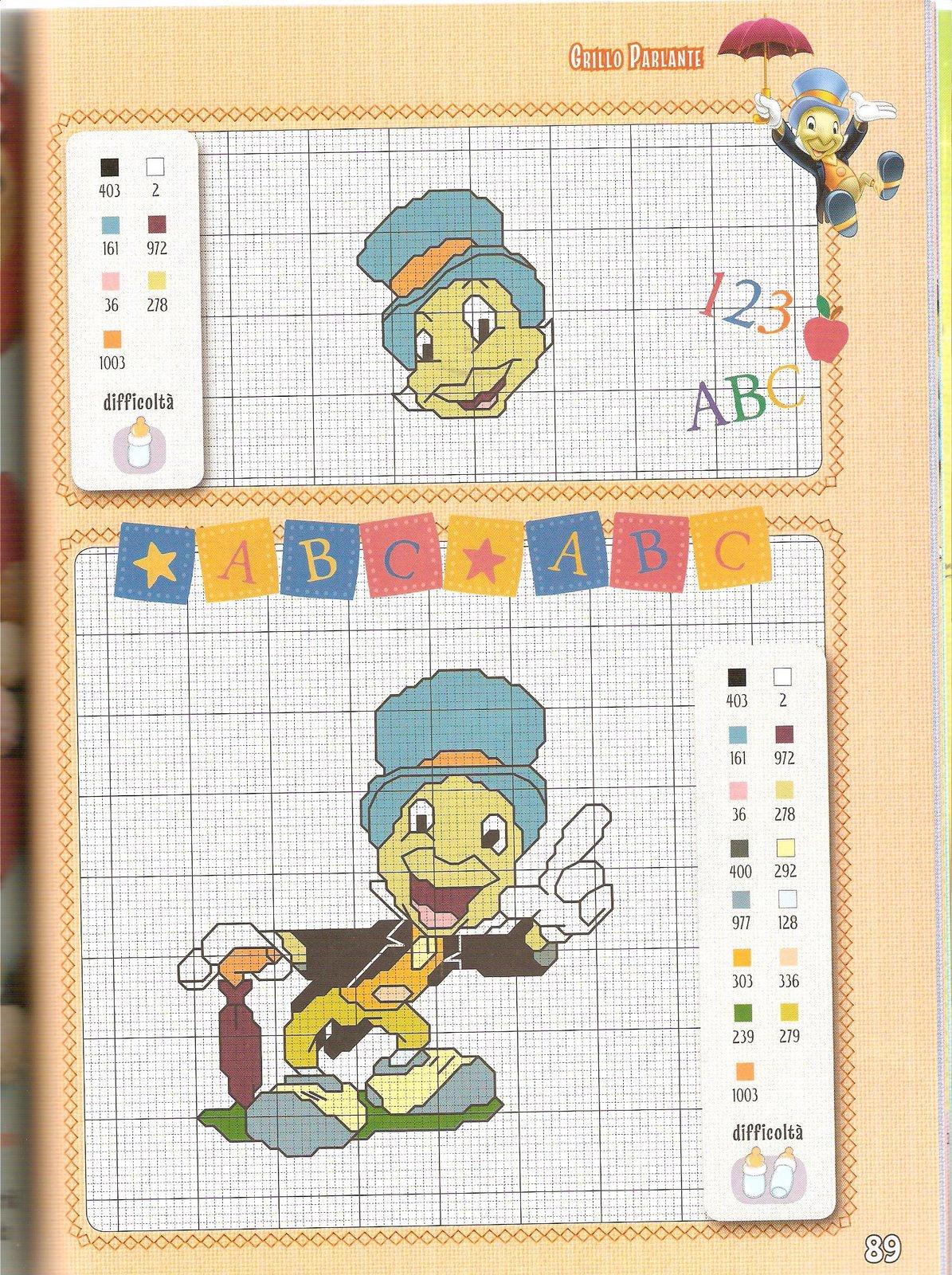 Disney baby 13 punto croce uncinetto for Punto croce bambini disney