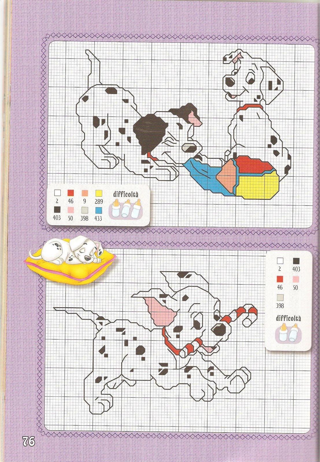 Disney baby 15 punto croce uncinetto for Punto croce bambini disney