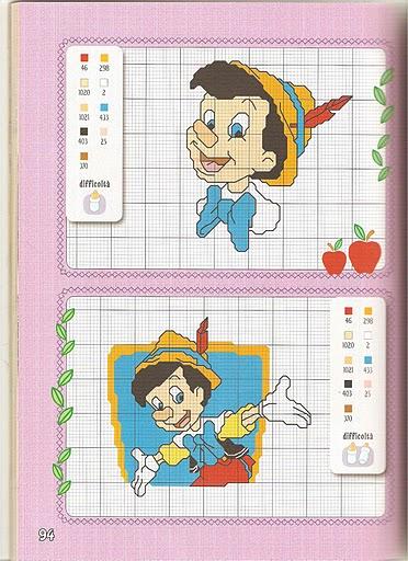 Disney baby 14 punto croce uncinetto for Punto croce bambini disney