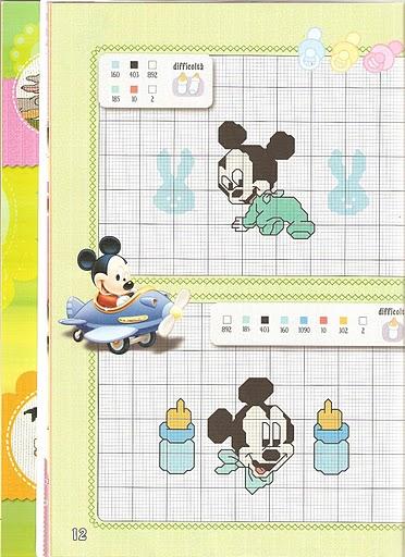 Disney baby 4 punto croce uncinetto for Punto croce bambini disney