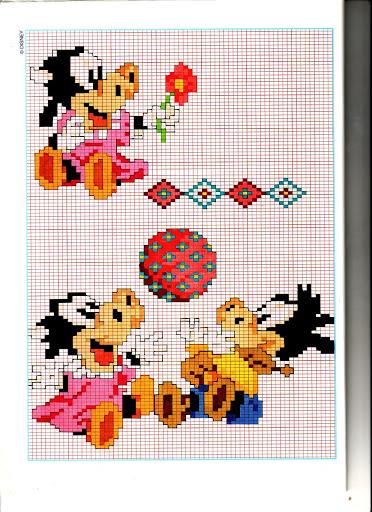 Disney baby orazio clarabella punto croce for Punto croce bambini disney