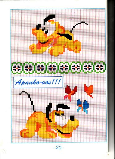 Disney baby pluto farfalle punto croce for Punto croce bambini disney