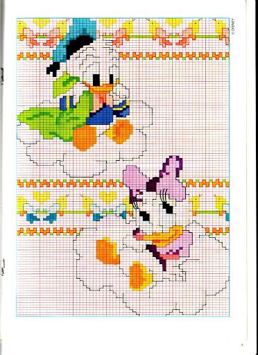Disney baby su nuvole 1 punto croce for Disney punto croce schemi gratis