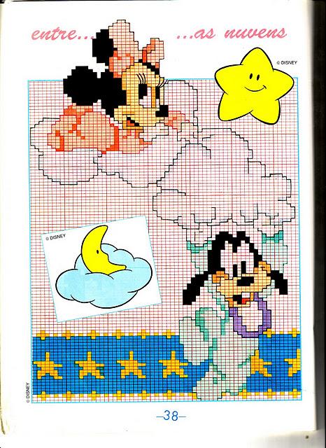 Disney baby su nuvole 2 punto croce for Disney punto croce schemi gratis